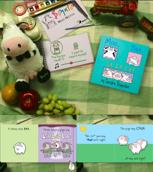 Moo Baa collage